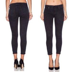 J brand • Rail black noise skinny cropped jeans
